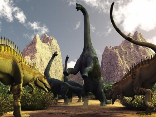 Dinosaures Herbivores Triasique