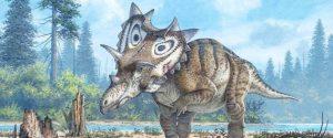 Liste des dinosaures avec des cornes sur la tete